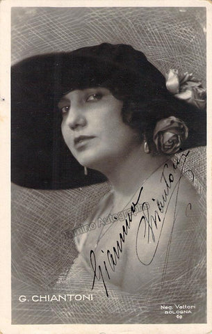 Chiantoni, Giannina - Signed Photo