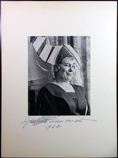 Simionato, Giulietta - Large Signed Photo 1962