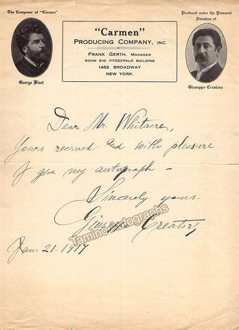 Creatore, Giuseppe - Autograph Note Signed 1917