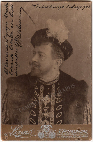 Kaschmann, Giuseppe - Signed Cabinet Photo in Role 1903