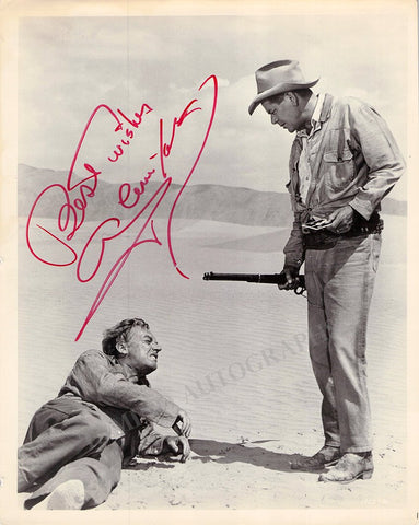 "Ford, Glenn - Signed Photo in ""Day of the Evil Gun"""