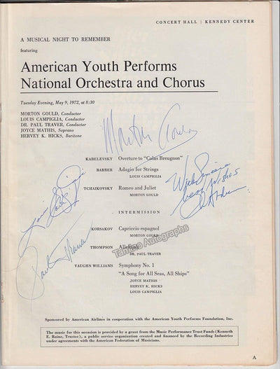 Gould, Morton - Campiglia, Louis & Others - Signed Program New York 1972