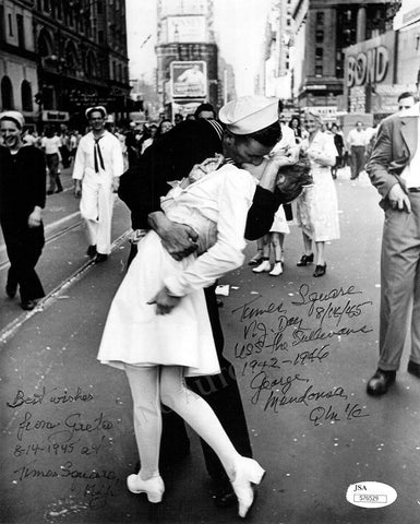 V-Day Kiss Photo Signed