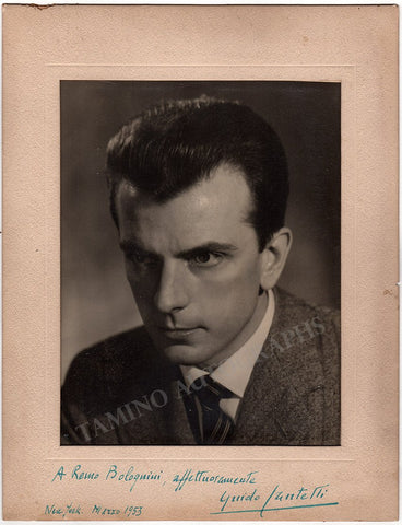 Cantelli, Guido - Signed Photo 1953
