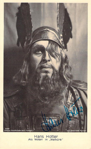Hotter, Hans - Signed Photo Postcard as Wotan