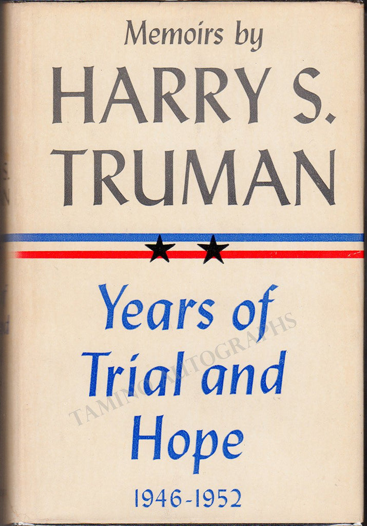 "Truman, Harry S. - Signed Book ""Memoirs by Harry S. Truman"" 2 Volumes"