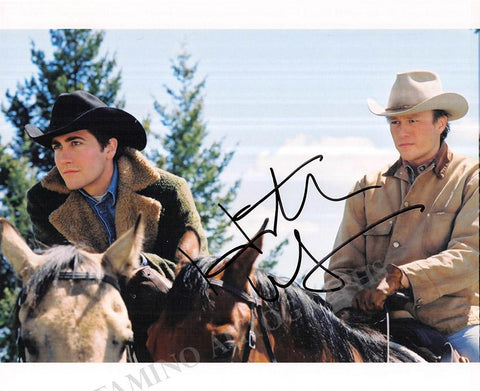 "Ledger, Heath - Signed Movie Still in ""Brokeback Mountain"""