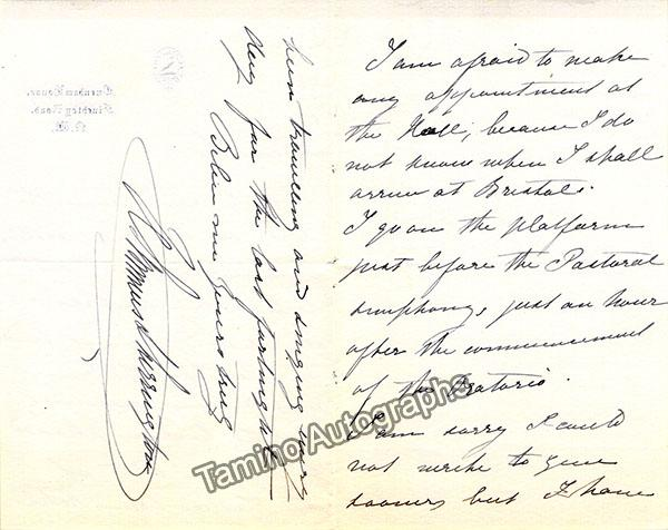 Lemmens-Sherrington, Helen - Autograph Letter Signed with Unsigned CDV