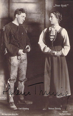 Thimig, Helene - Signed Photo in Peer Gynt