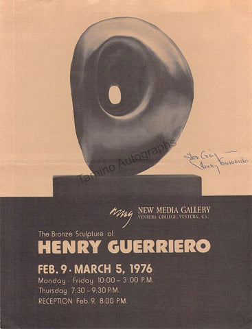 Guerriero, Henry - Signed Pamphlet