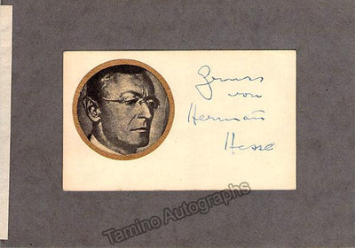 Hesse, Hermann - Signed Card with Photo