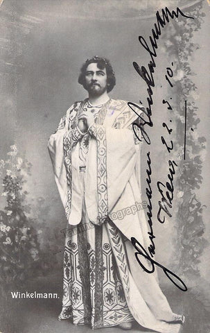 Winkelmann, Hermann - Signed Photo in Parsifal 1910