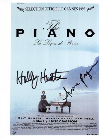 "Hunter, Holly - Paquin, Anna - Double Signed Photo ""The Piano"""