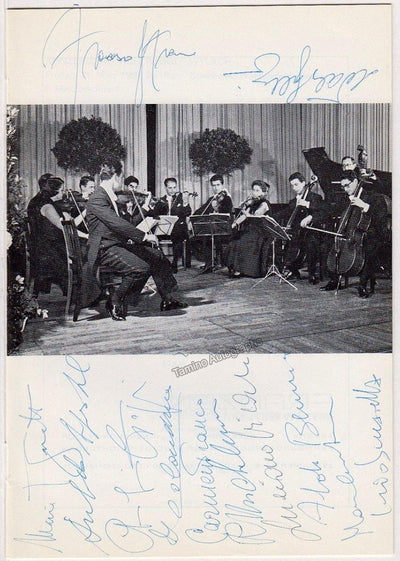 I Musici - Program Wuppertal 1969 Signed by All