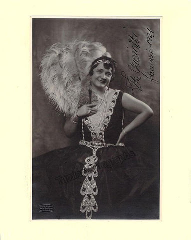 Quaiatti, Ida - Signed Photo in Role 1931