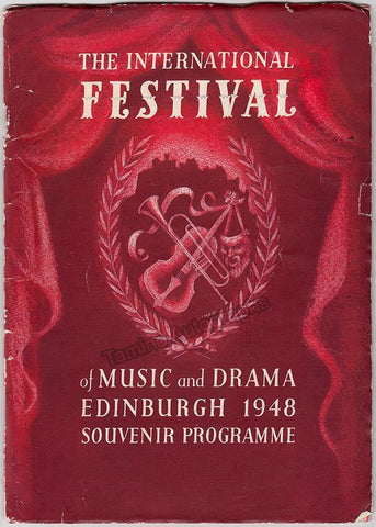 International Festival of Music and Drama Program - Edinburgh 1948