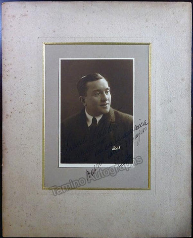 Voltolini, Ismaele - Large Signed Photo 1920
