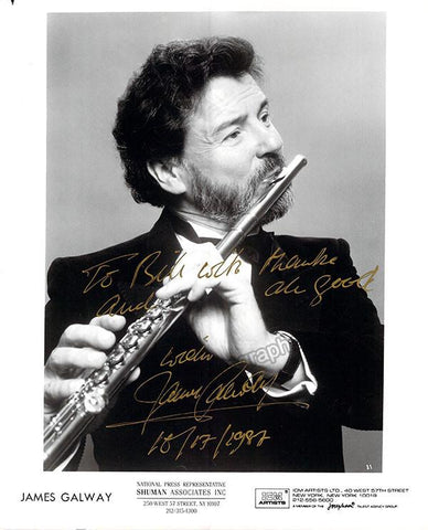 Galway, James - Signed Photo 1987