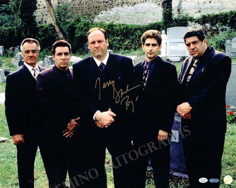 "Gandolfini, James - Large Signed Photo in ""The Sopranos"""