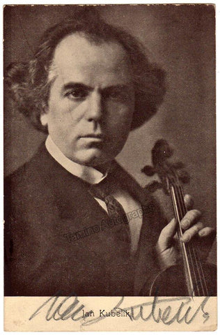 Kubelik, Jan - Signed Photo Postcard with Violin