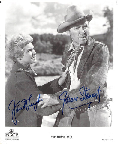 "Leigh, Janet - Stewart, James - Double Signed Photo in ""The Naked Spur"""