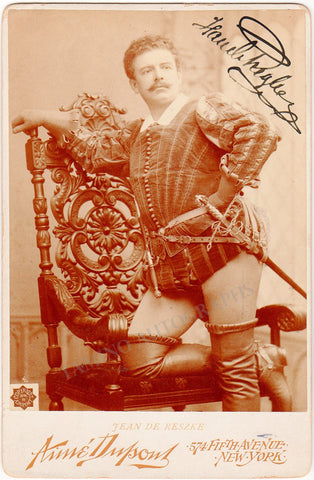 Reszke, Jean de - Signed Cabinet Photo in Les Huguenots