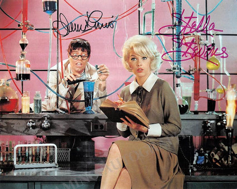 "Lewis, Jerry - Stevens, Stella - Double Signed Photo in ""The Nutty Professor"""