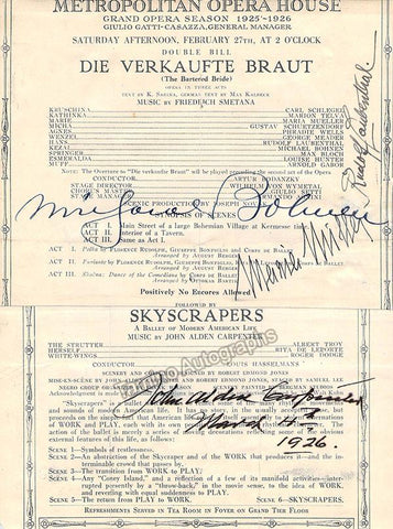 Carpenter, John - Bohnen, Michael - Muller, Maria - Laubenthal, Rudolf - Signed Clipped Cast Page 1926