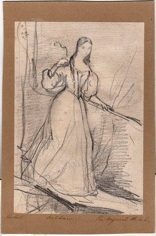 Herbert, John Rogers - Original Drawing of Maria Malibran
