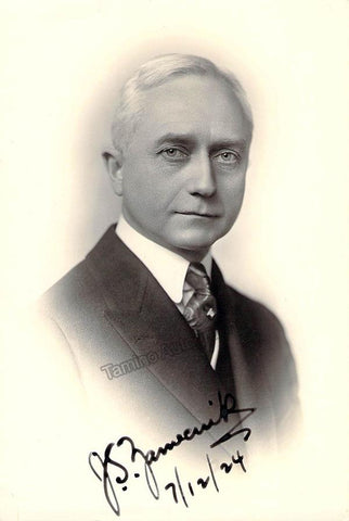 Zamecnik, John Stepan - Signed Photo 1924