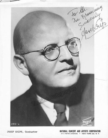 Krips, Josef - Signed Photo