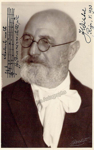 Wihtol, Joseph - Signed Photograph with Music Quote 1933