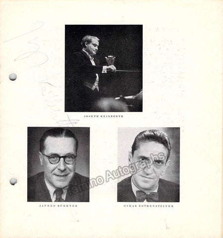 Keilberth, Joseph - Concert Program 1954