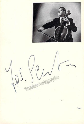 Schuster, Joseph - Signed Card & Small Photo