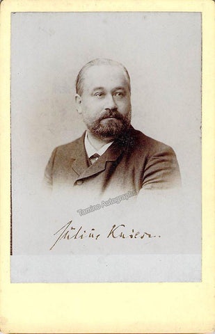 Kniese, Julius - Unsigned Cabinet Photo