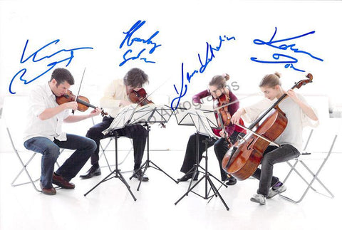 Kelemen String Quartet - Larger Size Signed Photo