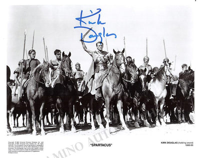 "Douglas, Kirk - Signed Photo in ""Spartacus"""