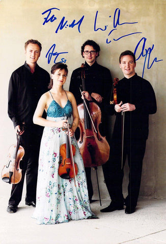 Kuss String Quartet - Larger Size Signed Photo