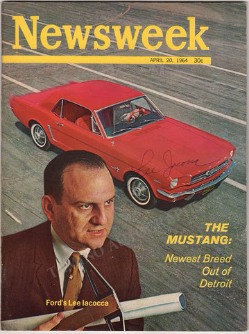 Iacocca, Lee - Signed Newsweek Magazine 1964