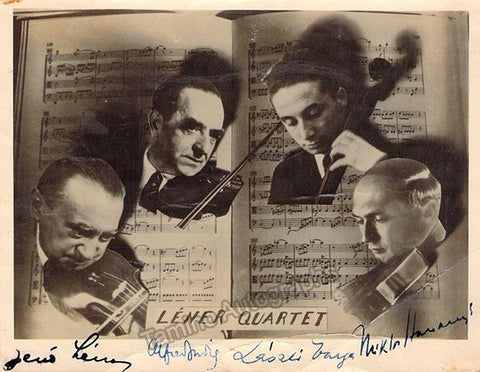 Lener Quartet - Photo Signed by All 4