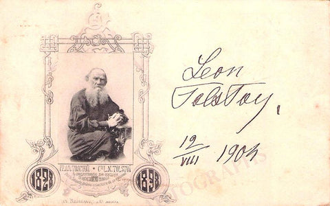 Tolstoy, Leon - Signed Photo 1904