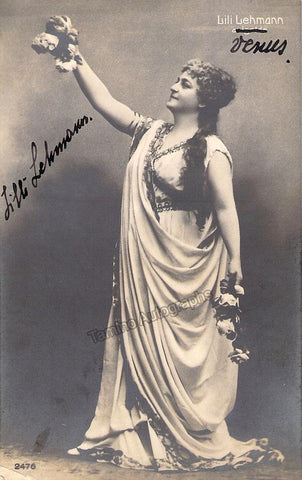 Lehmann, Lilli - Signed Photo as Venus