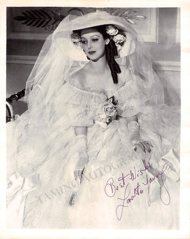 Young, Loretta - Signed Photo