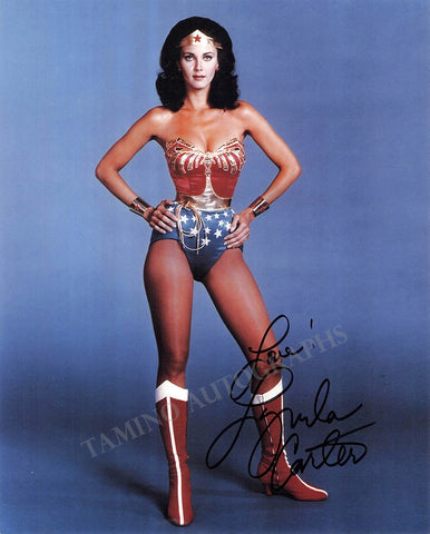 "Carter, Lynda - Signed Photo as ""Wonder Woman"""