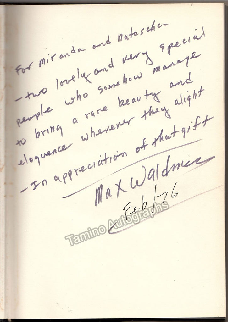 "Waldman, Max - Signed Book ""Waldman on Theater"""