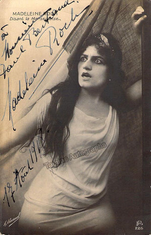 Roch, Madeleine - Signed Photo in role in 1918