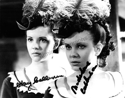 "Callinson, Madelaine - Callinson, Mary - Double Signed Photograph in ""Twins of Evil"""