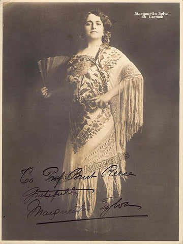 Sylva, Marguerite - Signed Photo as Carmen