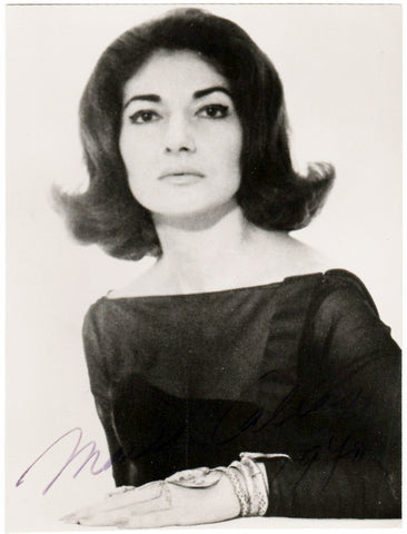 Callas, Maria - Signed Photo 1970