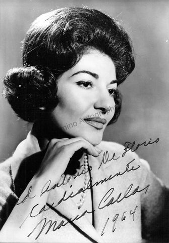 Callas, Maria - Signed Photo 1964
